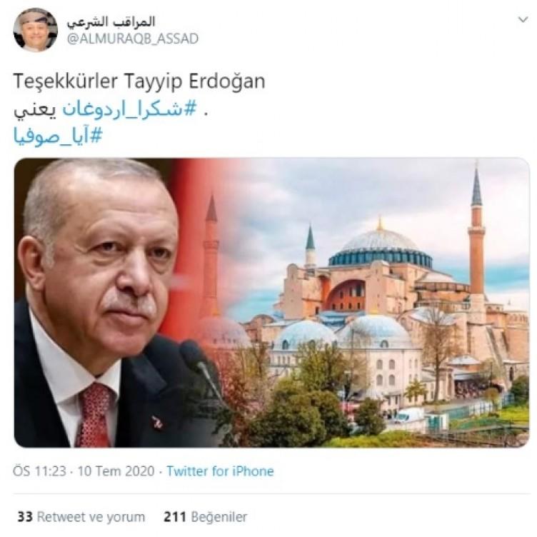 Erdoğan'a mesaj yağmuru: Ayasofya Camii kararı İslam dünyasını sevince boğdu! Filistinli karikatüristten çarpıcı karikatür