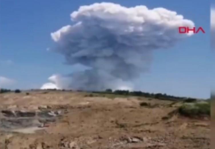 Patlama sonrası şok görüntüler! Yaşlı kadın isyan etti