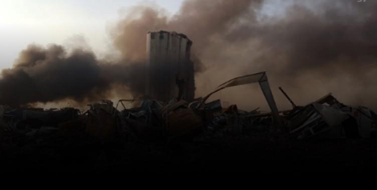 Beyrut'ta patlama sonrası korkunç görüntüler!