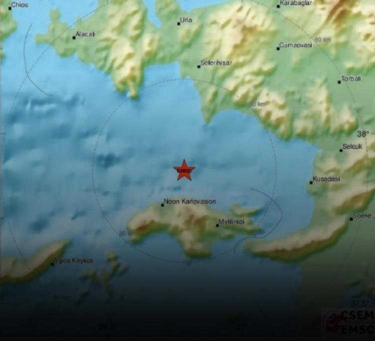 İzmir'deki şiddetli depremden ilk görüntüler