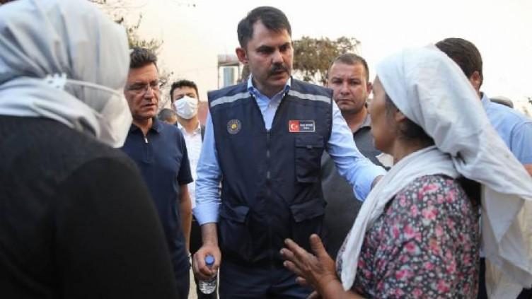 Bakan Kurum Manavgat'ta: Yaralar en yakın sürede sarılacak