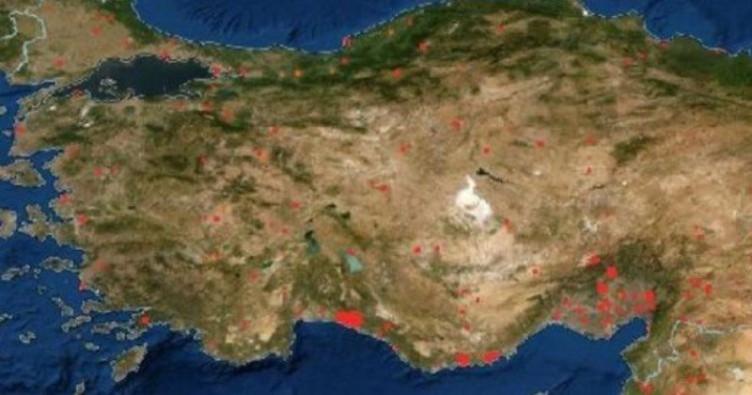 NASA Türkiye'deki orman yangınlarını görüntüledi