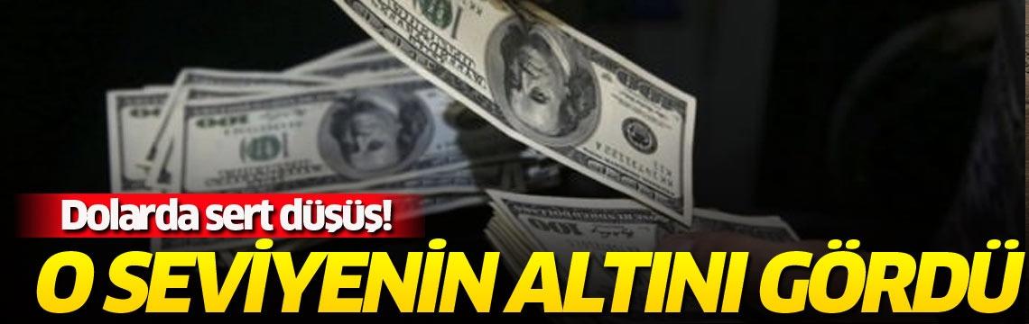 Dolarda sert düşüş! O seviyenin altını gördü