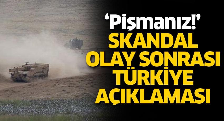 Skandal olay sonrası Türkiye açıklaması: Pişmanız!