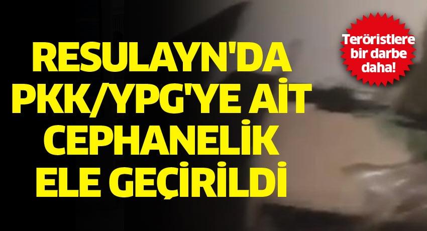 Teröristlere bir darbe daha! Resulayn'da PKK/YPG'ye ait cephanelik ele geçirildi