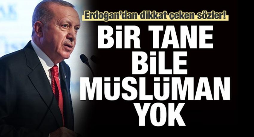 Erdoğan'dan dikkat çeken sözler: Bir tane bile Müslüman yok