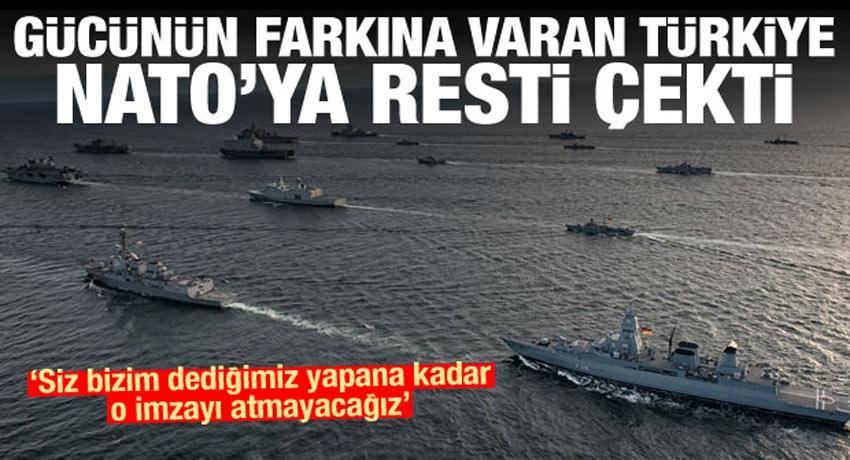 Son Dakika: Türkiye'den NATO'ya rest: Dediğimizi yapın imzayı atmayız