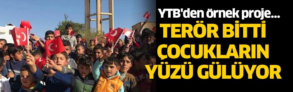 YTB'den örnek proje… Terör bitti çocukların yüzü gülüyor