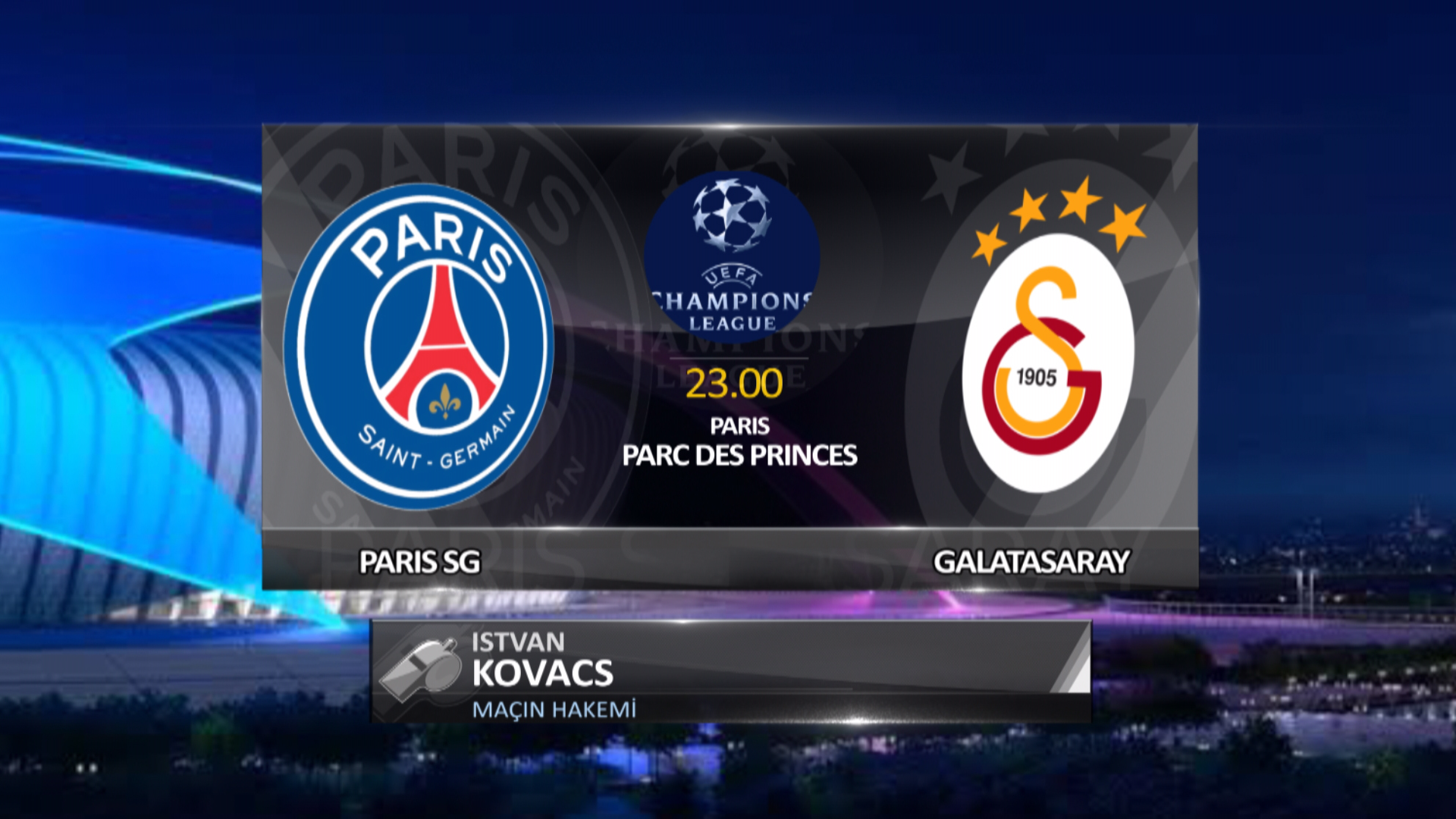 Galatasaray devler ligini Paris'te kapatıyor