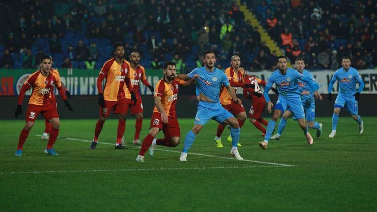 Galatasaray, Rize'den avantajlı döndü
