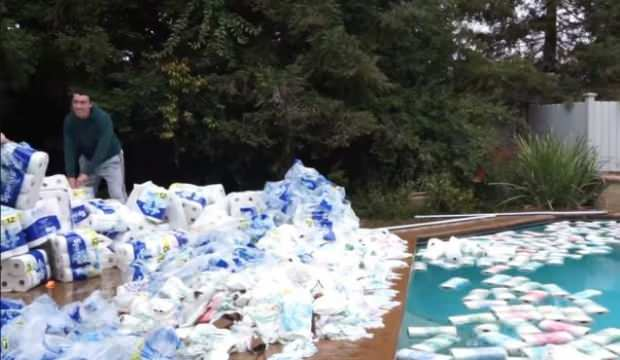 YouTuber'ın bu videosuna tepki yağıyor: Hepsine havuza attı