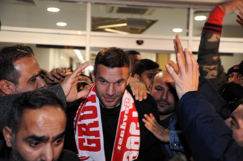Podolski Antalya'da
