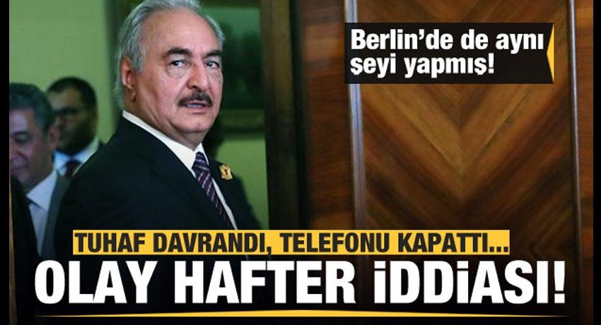 Olay 'Hafter' iddiası! Berlin'de de aynı şeyi yapmış!