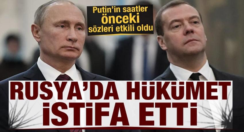 Putin'in sözleri Moskova'yı karıştırdı! Rusya'da hükümet istifa etti