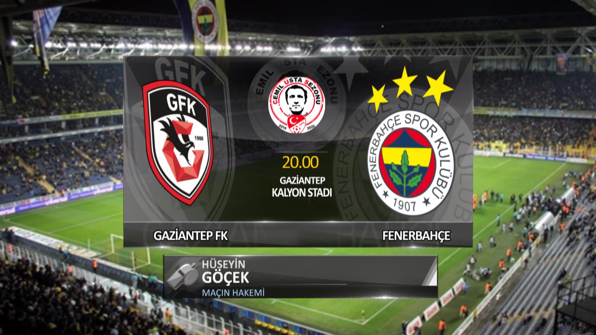 Fenerbahçe, Gaziantep deplasmanında