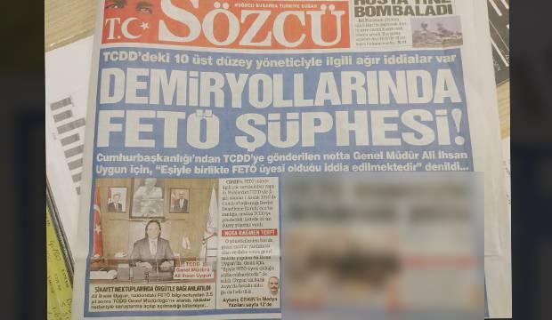 Sözcü, FETÖ taktiği yaparak Ali İhsan Uygun'u hedef aldı