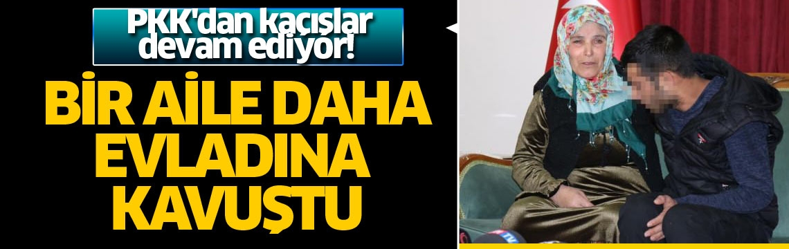 PKK'dan kaçışlar devam ediyor! Bir aile daha evladına kavuştu