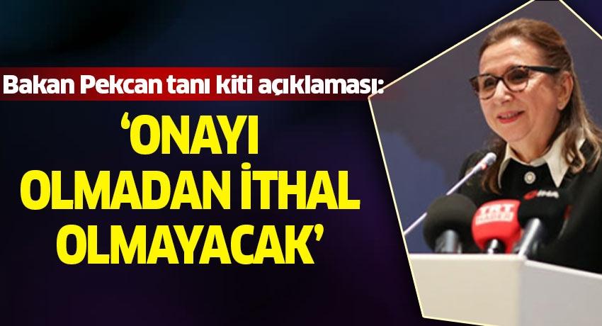 Bakan Pekcan tanı kiti açıklaması: 'Onayı olmadan ithal olmayacak'