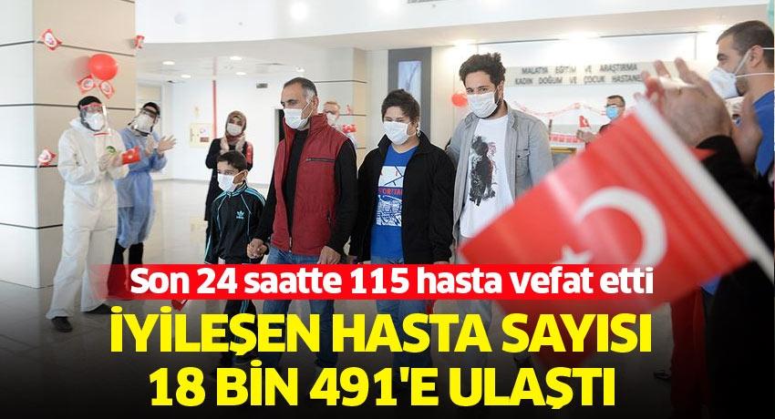 Türkiye'de Kovid-19'dan iyileşen hasta sayısı 18 bin 491'e ulaştı
