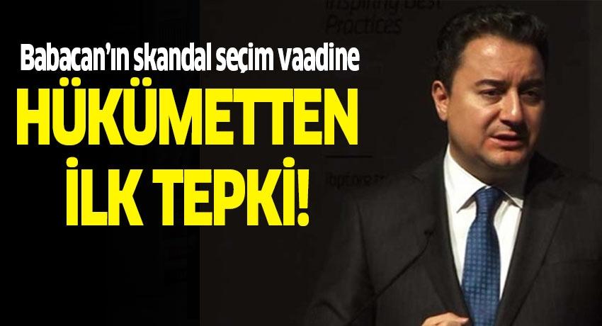 Ali Babacan'ın skandal seçim vaadine Fahrettin Altun'dan cevap