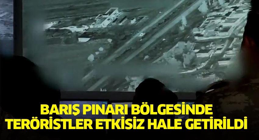 Barış Pınarı Bölgesi'nde teröristler etkisiz hale getirildi