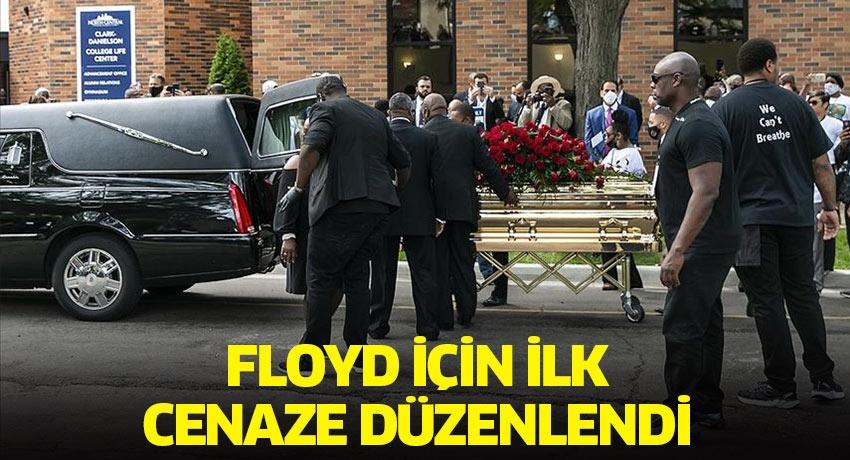 George Floyd için ilk cenaze düzenlendi! Cenazede 8 dakikalık saygı duruşu