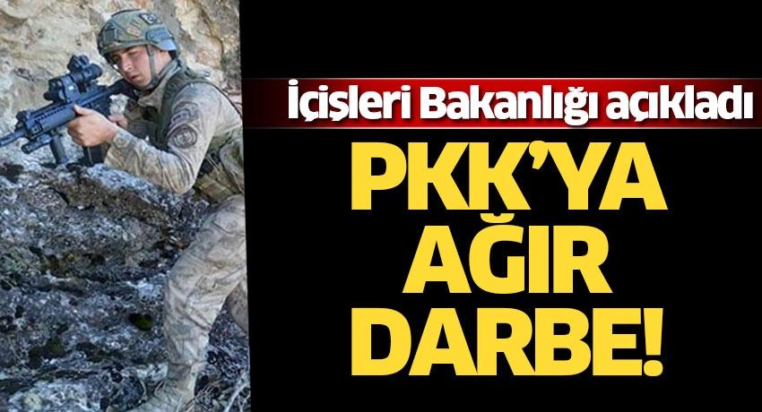 İçişleri Bakanlığı açıkladı! PKK'ya ağır darbe