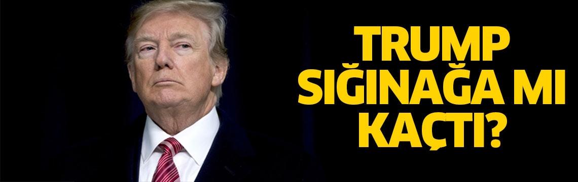 'Trump sığınağa saklandı' iddiası