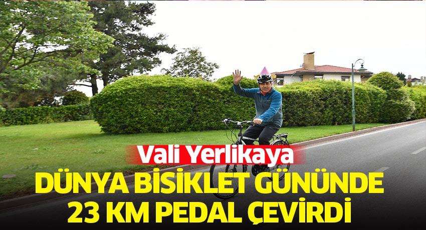 Vali Yerlikaya, Dünya Bisiklet Günü'nde 23 Kilometre Pedal Çevirdi