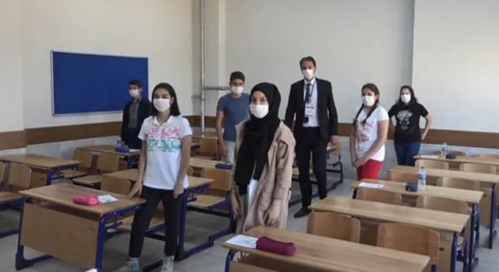 Kayseri'de öğrenciler LGS'ye böyle girecek