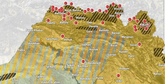 TSK'dan Kuzey Irak'ta 38 askeri nokta