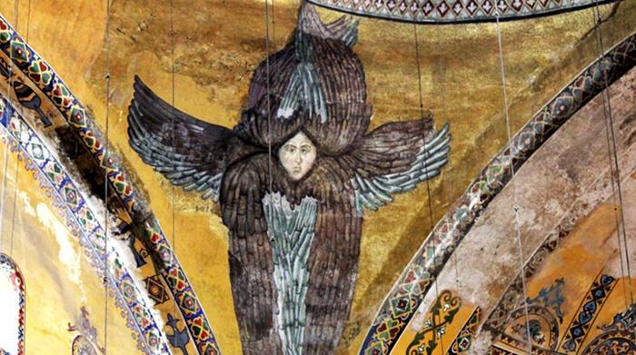"""""""Ayasofya'daki freskler lazer ışıkla kapatılacak"""""""