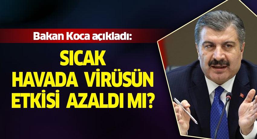 Sağlık Bakanı Fahrettin Koca'dan koronavirüs açıklaması!