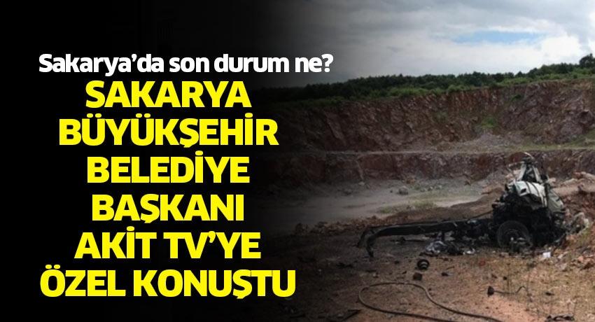 Sakarya Büyükşehir Belediye Başkanı Ekrem Yüce AKİT TV'ye özel konuştu! Sakarya'da son durum ne?
