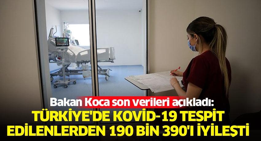 Türkiye'de Kovid-19 tespit edilenlerden 190 bin 390'ı iyileşti