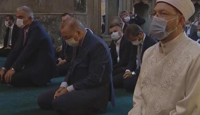 Erdoğan'dan Ayasofya Camii çıkışı önemli açıklamalar