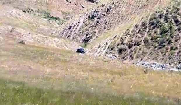 Hafif ticari araç metrelerce takla atıp uçurumdan yuvarlandı: 1 ölü 2 yaralı