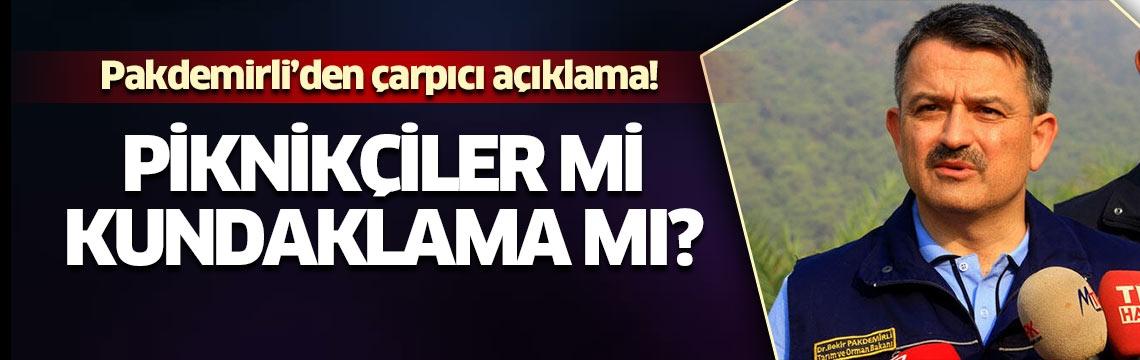 İzmir'deki dev yangın ile ilgili Bakan Pakdemirli'den flaş açıklamalar: Bir kişi gözaltında...