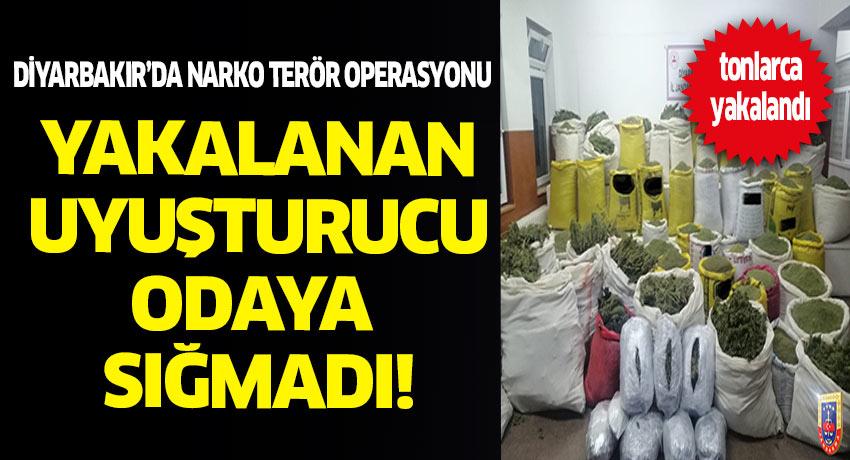 Diyarbakır'da narko terör operasyonunda tonlarca uyuşturucu yakalandı