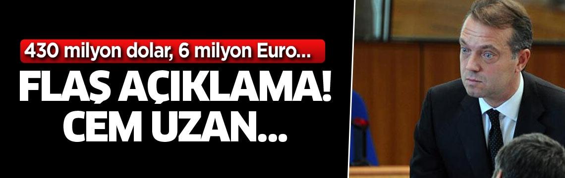 430 milyon dolar, 6 milyon Euro… Flaş açıklama! Cem Uzan…