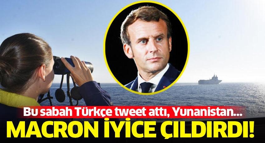 Bu sabah Türkçe tweet attı, Yunanistan… Macron iyice çıldırdı!