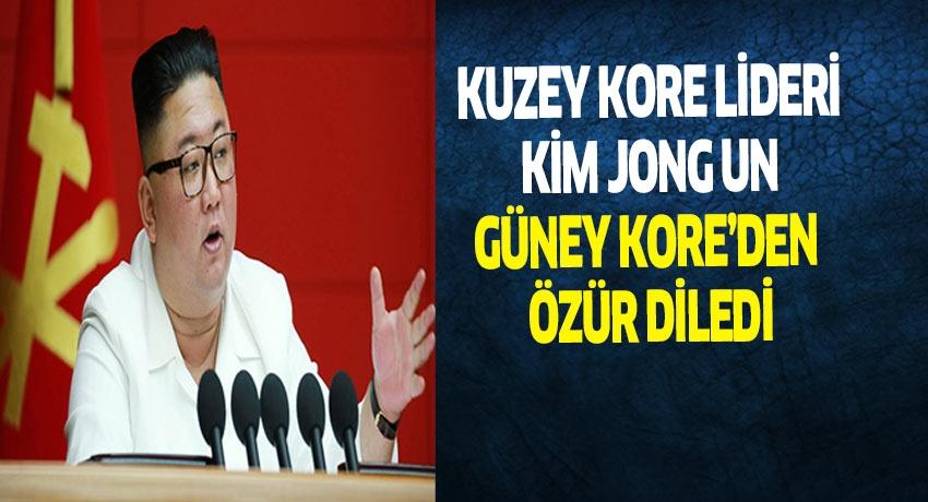 Kuzey Kore Lideri, Güney Kore'den Özür Diledi.