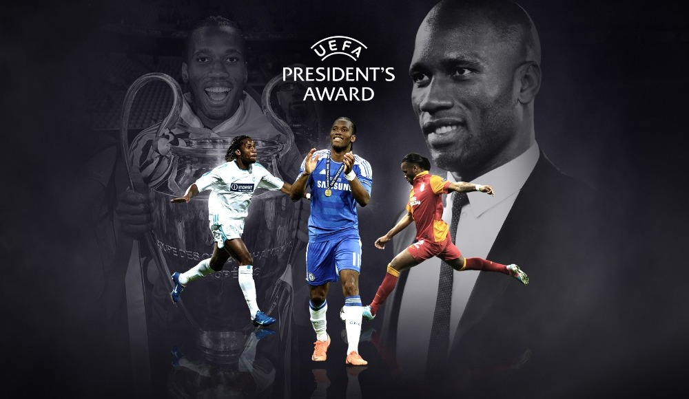 UEFA'dan Drogba'ya ödül