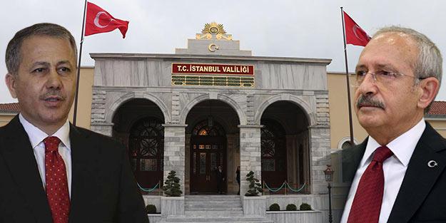 İstanbul Valiliğinden Kemal Kılıçdaroğlu'na Ali Yerlikaya cevabı