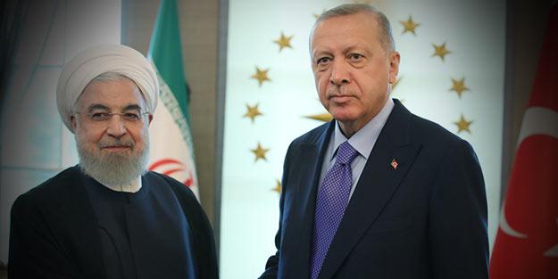 Ortak harekete vurgu yapıldı! Cumhurbaşkanı Erdoğan ile Ruhani arasında kritik görüşme