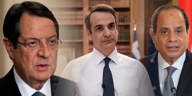 Türkiye düşmanları Güney Kıbrıs'ta bir araya gelip Türkiye'yi suçladı