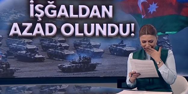 """Azerbaycanlı spiker gözyaşlarına boğuldu! """"15 yıldır bu haberi seslendirme arzusuyla yaşadım"""""""