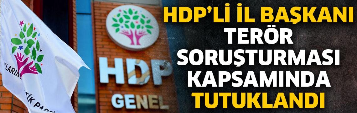 HDP'li İl Başkanı terör soruşturması kapsamında tutuklandı