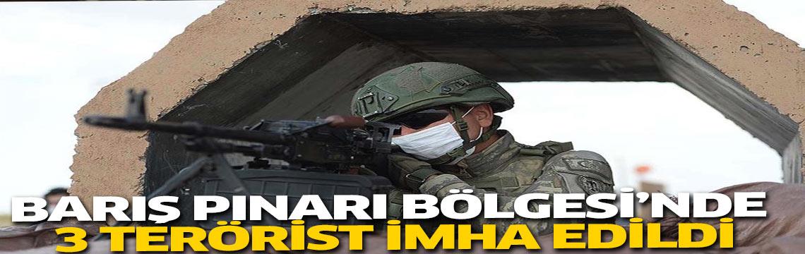 Barış Pınarı Harekat Bölgesi'nde 3 terörist etkisiz hale getirildi