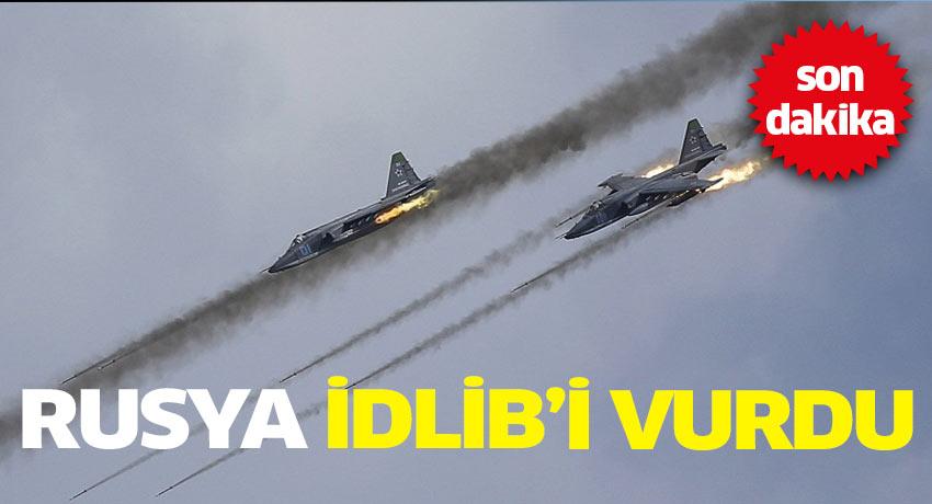 Rusya İdlip'te muhaliflerin kampını vurdu!